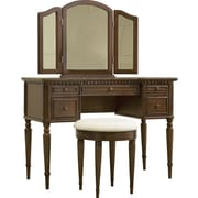 Powell® Vanity/Mirror and Bench, Warm Cherry