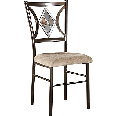 Powell® Metal/Terylene Fabric Presley Dining Side Chair, Tan