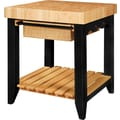 Powell® Color Story Butcher Block Kitchen Island, Black/Natural