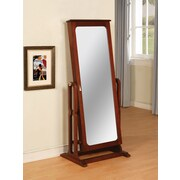 Powell® MDF Cheval Jewelry Wardrobe, Marquis Cherry