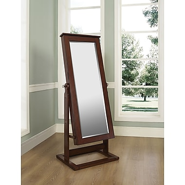 Powell® MDF Cheval Jewelry Wardrobe, Walnut