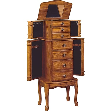 Powell® MDF Jewelry Armoire, Woodland Oak
