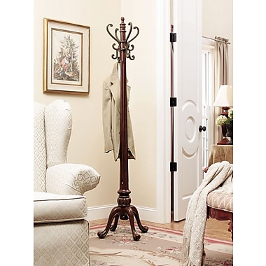 Powell® Barrier Reef Coat Rack, Warm Nut Brown