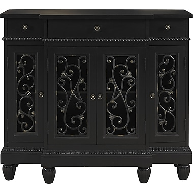 Powell® Breakfront Console, Black