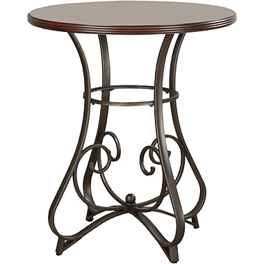 Powell® 42in. Round Wood/Metal Hamilton Pub Table, Medium Cherry