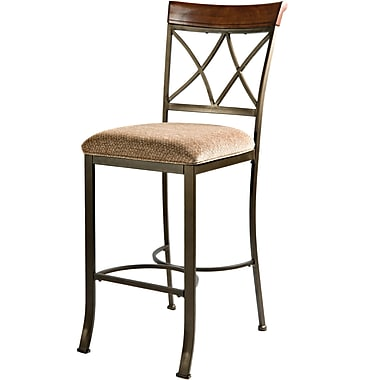 Powell® Hamilton Metal Bar Stool, Beige