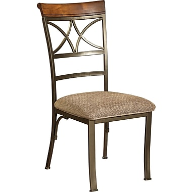 Powell® Metal/Fabric Hamilton Dining Chair, Taupe/Beige