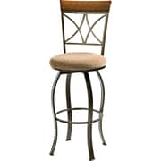 Powell® Hamilton Metal Swivel Bar Stool, Beige