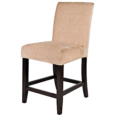 Powell® Wood Slip Over Counter Stool, Dark Beige