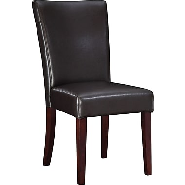 Powell® Bonded Leather Parsons Chair, Brown