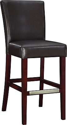 Powell Bonded Leather Bar Stool, Brown 66948