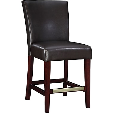 Powell® Bonded Leather Counter Stool, Brown