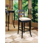 "Powell Furniture Hills Of Provence 30"" Bar Stool, Antique Black (987-481)"