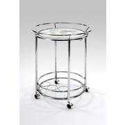 Powell® World Map Metal/Glass Printing Serving Trolley