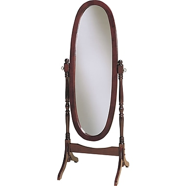 Powell® 59 1/4in. x 22 1/2in. x 16in. Wood Framed Cheval Mirror, Heirloom Cherry