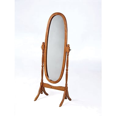 Powell® 59 1/4in. x 22 1/2in. x 16in. Wood Framed Cheval Mirror, Nostalgic Oak