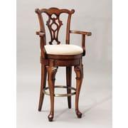 "Powell Furniture Jamestown Landing 31"" Swivel Arm Bar Stool, Deep Cherry (987-481)"