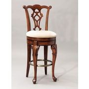 Powell® Jamestown Landing Solid Birch Swivel Armless Bar Stool, Deep Cherry