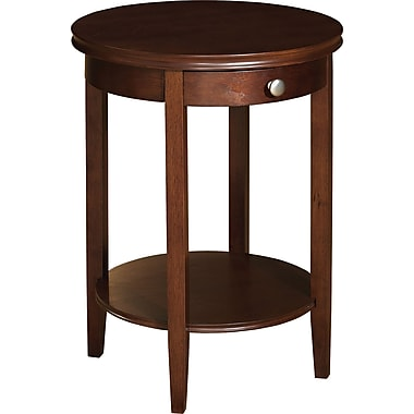 Powell® 18in. Round Shelburne Accent Table, Cherry