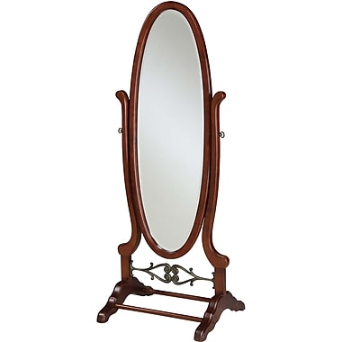 Powell® 63in. x 25 1/4in. x 20in. Wood Cheval Mirror, Heirloom Cherry