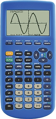 Guerrilla Blue Silicon Case for TI 83 Plus Graphing Calculator