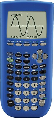 Guerilla Blue Silicone Cover for TI 84 Plus Graphing Calculator