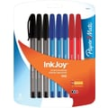 Paper Mate InkJoy 100 Stick Ballpoint Pens, Medium Point, Business Colored, 8/Pack