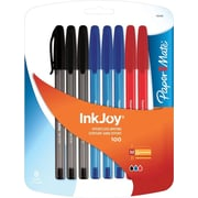 Paper Mate InkJoy 100 Stick Ballpoint Pens, Medium Point, Assorted, 8/Pack