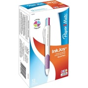 Paper Mate InkJoy Quatro Retractable Ballpoint Pens, Medium Point, Fashion Colored Ink, Dozen