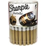 Sharpie® Metallic Permanent Markers, Fine Point, Gold Ink, 36/pk (1835493)