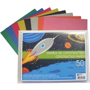 Geo Construction Paper, 50 Sheets, Assorted Colours