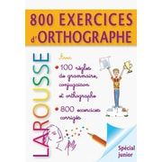 French Reference Book - Larousse Grammaire 800 Exercises D'Orthographe
