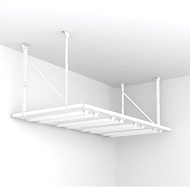Overhead Ceiling Storage Shelf, 96in.x48in., White