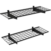 Slat Wall Shelf, 45in.x15in., Black, 2 Shelves/Pack