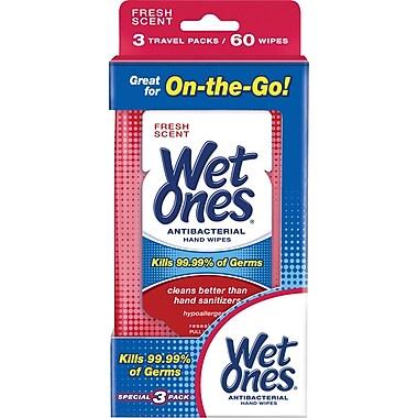 Wet Ones® Antibacterial Travel Hand Wipes