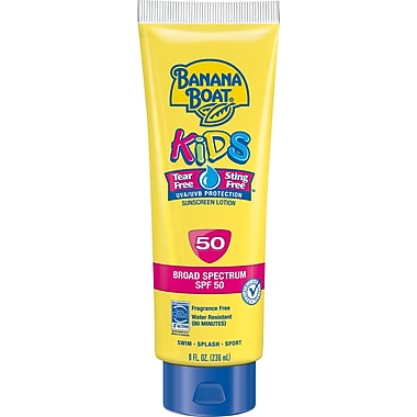Banana Boat Kids Sunscreen Lotion Tear-free, SPF 50, 8 oz