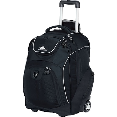 High Sierra Powerglide Wheeled Backpack, Black