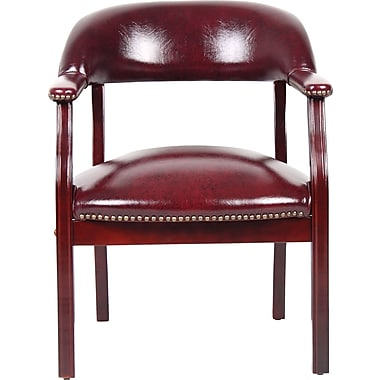 BOSS Captain's Guest Arm Chair, Burgundy
