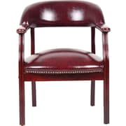 BOSS® Captain's Guest Arm Chair, Burgundy