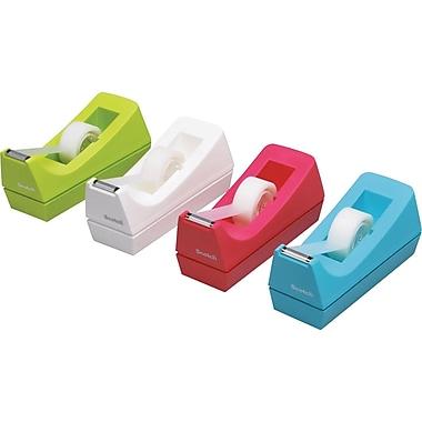 Scotch C38 Jewel Pop Desktop Tape Dispenser, Assorted Colours