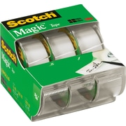 Scotch® Magic™ Tape, 3/4 x 8.33 yds with Dispensers, 1 Core, 3/Pack