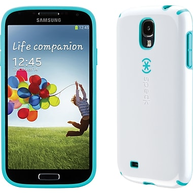 Speck CandyShell Case for Samsung Galaxy S4, White/Caribbean Blue