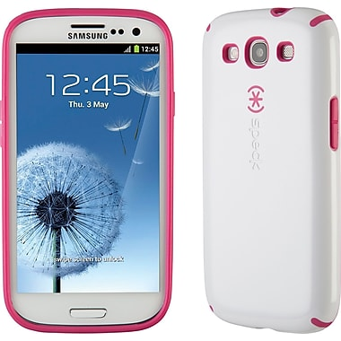 Speck CandyShell for Samsung Galaxy S III, White/Raspberry