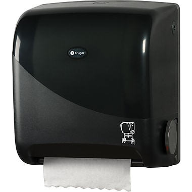 NOIR Touchless Mechanical Roll Towel Dispenser, Smoke/Black