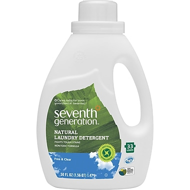 Seventh Generation Natural 2X Concentrated Laundry Detergent, 50 oz.