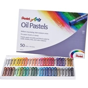 Pentel® Round Stick Oil Pastel, 50-Colour