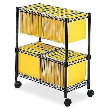 Safco® 2-Tier Mobile File Cart, Letter/Legal, Black