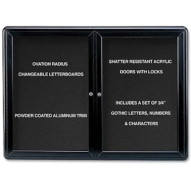Ghent® Ovation Changeable Letter Board, 2 Door, 47