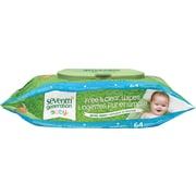 Seventh Generation® Free & Clear Baby Wipes, Unscented, 64 Wipes/Pack
