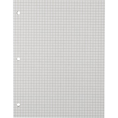 Sustainable Earth By Staples® 8-1/2in.x11in., Graph Filler Paper, 100 Sheets